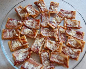 Bacon club cracker appetizer recipe from Bensa International