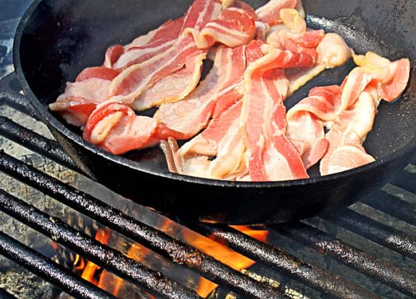 grill bacon in a skillet