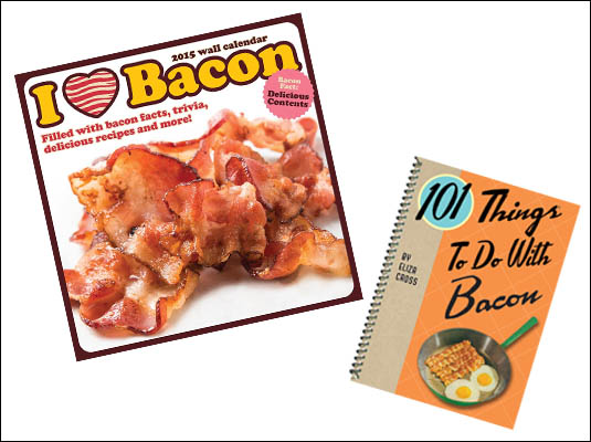 Bensa Giveaway of 2015 bacon calendar and bacon cookbook