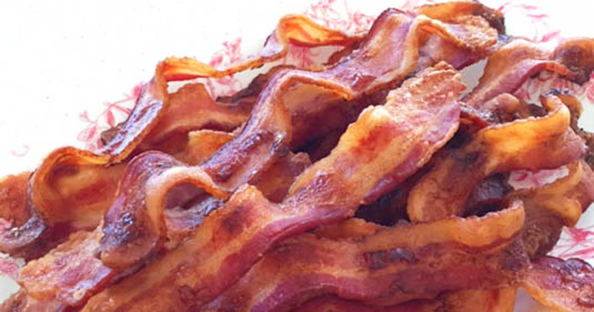 Baked wavy bacon