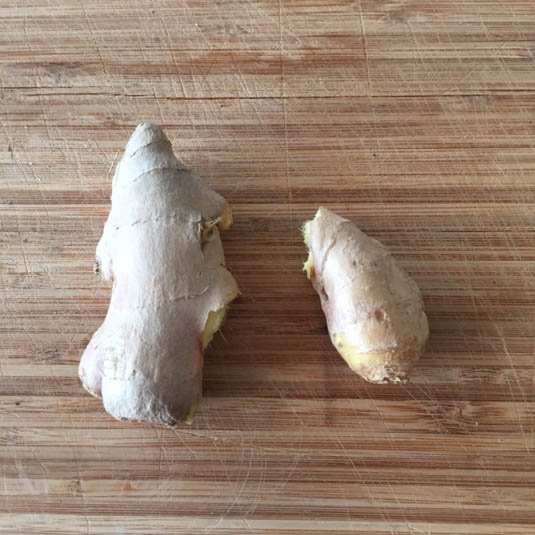 Fresh ginger for bacon fat cookies | Bensa bacon lovers
