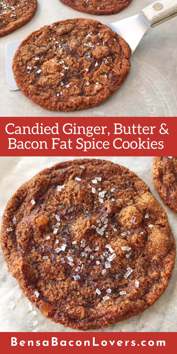 ginger bacon fat cookies