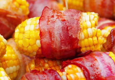 Bacon wrapped corn