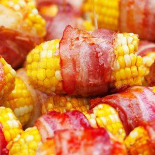 Bacon wrapped corn