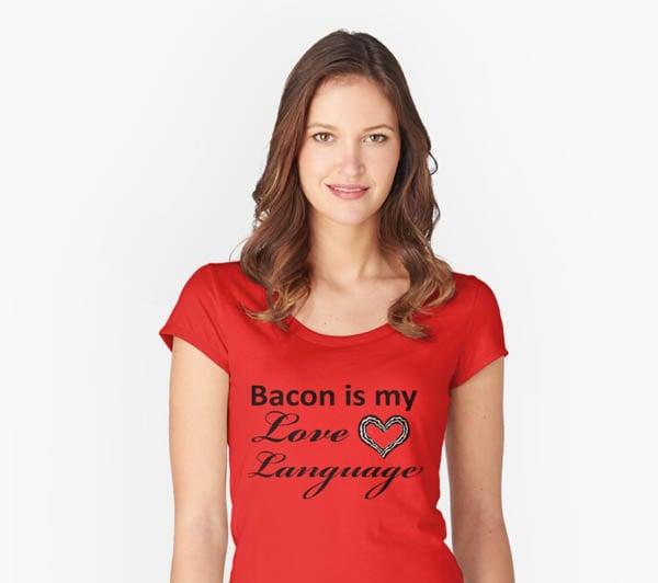 bacon women's t-shirt