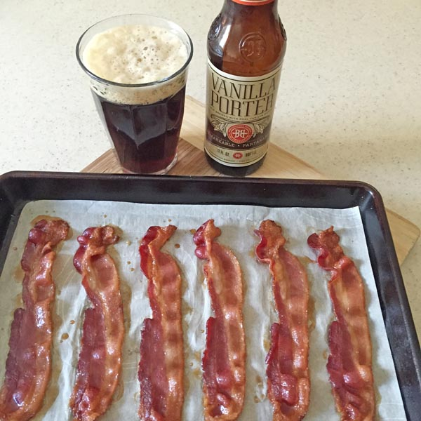 Candied bacon strips
