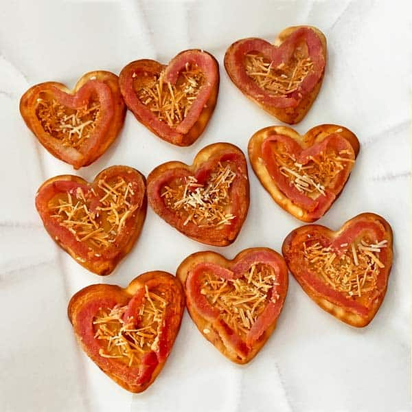 Heart bacon appetizers