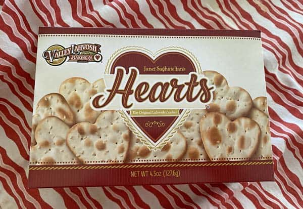 heart crackers for bacon appetizers