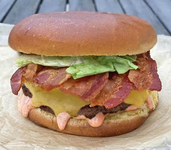 Irish bacon cheeseburger