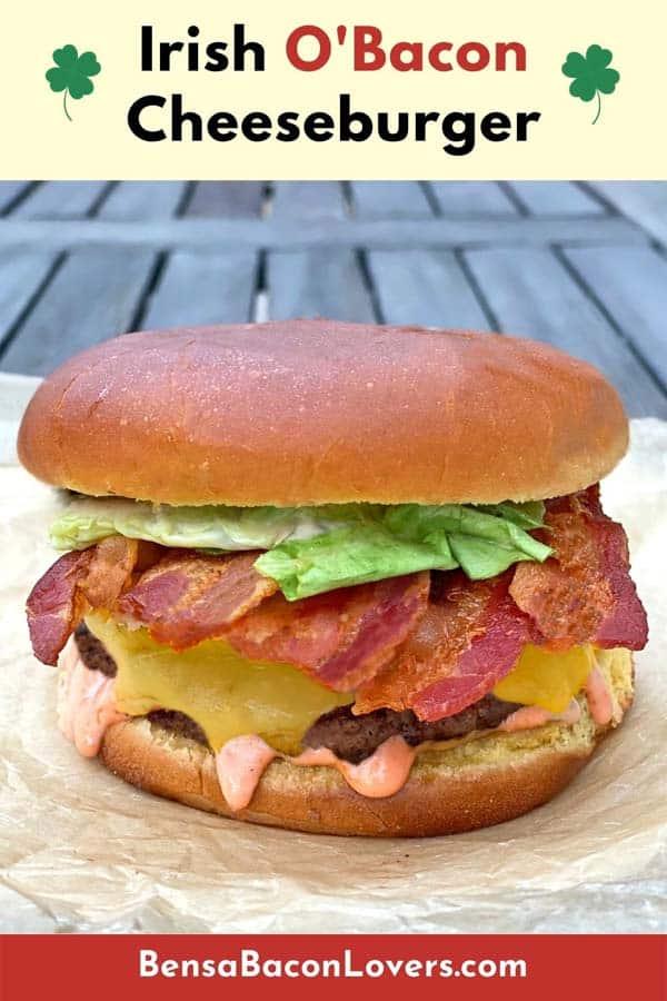 Irish Bacon Cheeseburger pin