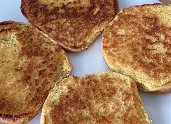 toasted buns for irish bacon cheeseburgers