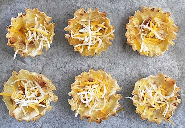 shredded cheese for mini bacon quiches